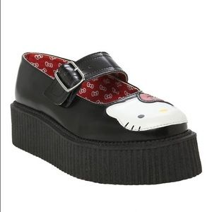 Leather TUK Hello Kitty Creepers Size 7